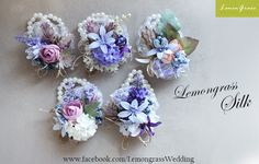 Series corsage collection. Surcharge will be applied.