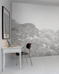 Make over woonkamer Fotobehang in hoek #fotobehang #wooninspiratie