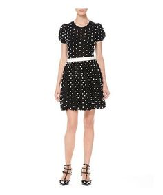 @roressclothes clothing ideas #women fashion Red Valentino BLACK AND WHITE polka-dot dress
