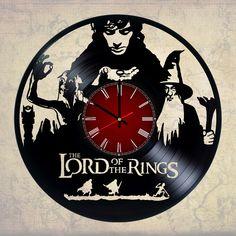 The Lord of The Rings Handmade Vinyl Record Wall Clock Fan Gift - VINYL CLOCKS