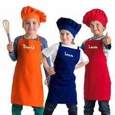 Jugando con duendes y hadas gorro de chef cocineros - Delantal masterchef personalizado ...