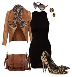 Dress under 50$ in Animal print by k-reen79 on Polyvore featuring polyvore fashion style River Island Gianvito Rossi The Sak Betsey Johnson Dorothy Perkins Roberto Cavalli clothing