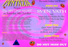 Saturday, 8 October 1994 : Fantazia – The Second Sight New Years Eve, Flyers, Sydney, Rave, Two By Two, Hold On, October, Raves, Ruffles