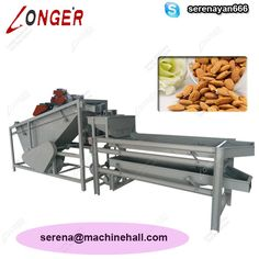 Almond Processing Machine Plant|Shelling Line http://www.almondbuttermachine.com/product/line/almond-processing-line.html If you need the machine, contact me. Skype: serenayan666 Email: serena@machinehall.com Whatsapp/Mobile: +8618595717505