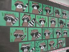 value, animals, ARTventurous: Raccoons. Whenever I see raccoons, I think of the book The Kissing Hand - which could easily be added! Brown paper and black and white oil pastels. Kindergarten Art Projects, School Art Projects, Raccoon Art, Racoon, First Grade Art, Animal Art Projects, Ecole Art, Art Lessons Elementary, Art Lesson Plans