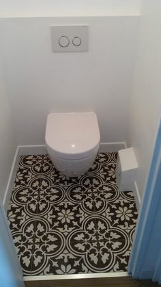 They range from simple ideas such as pure white tile bathroom to more complex and sophisticated tile ideas you can ever think about, some like marbles of different colors to stones and basket weave tiles. Guest Toilet, Small Toilet, Downstairs Toilet, Bathroom Toilets, Bathroom Renos, Small Bathroom, Half Bathrooms, Budget Bathroom, Bathroom Ideas