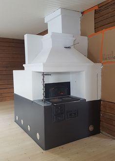 Vanhan leivinuunin korjaus Brick Masonry, Stoves, Loft, Interior Design, Bed, Inspiration, Furniture, Beautiful, Home Decor