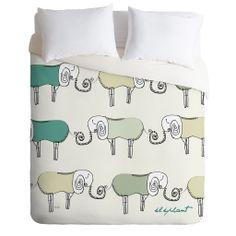 Brian Buckley Les Elephants Duvet Cover   DENY Designs Home Accessories