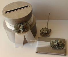 Wedding Card Box Money Box Gift Card Holder Guestbook set - Choose your own color Money Box Wedding, Card Box Wedding, Wedding Ideas, Taupe Wedding, Gift Card Boxes, Money Cards, Free Gift Cards, Brides And Bridesmaids, Card Holder