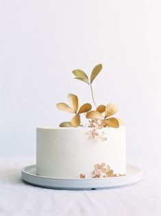 Jen Huang - Minimalist and Modern White Wedding Cake Small Wedding Cakes, White Wedding Cakes, Wedding Cakes With Flowers, Wedding Cake Designs, Wedding Cake Toppers, Cake Wedding, Wedding Sweets, Wedding Unique, Wedding Ideas