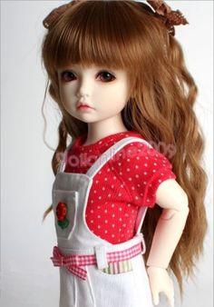 1-6-BJD-Wig-6-7-YOSD-a-little-doll-reddish-brown-Hair-AOD-AF-DZ-DK-DOD-Luts-5ST