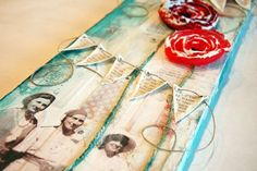 Gorgeous canvas using Donna Downey products by Prima. Canvas by Donna Downey