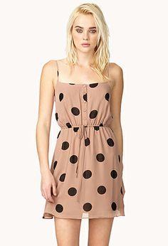 Polka Dot Drawstring Dress | FOREVER21 - 2037391542