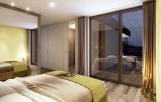 STOMEO Architektur Visualisierung - Zürich Divider, Room, Furniture, Home Decor, Architecture Visualization, Real Estates, Floor Layout, Bed Room, Bedroom