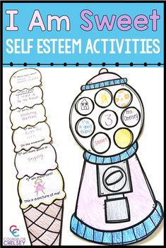 These self esteem activities for kids are perfect for helping students learn to celebrate their strengths and use positive self talk. These are great for back to school activities or self esteem lessons or small groups! Coping Skills Activities, Self Esteem Activities, Counseling Activities, Art Therapy Activities, Preschool Activities, Group Counseling, Self Esteem Crafts, Health Activities, Educational Activities