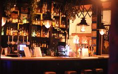The Blue Pig. A Mancunian Parisian-style deli a tad compl Beer Garden, Classic Cocktails, Cool Bars, Parisian Style, City Lights, Fun Drinks, Deli, Craft Beer, Manchester