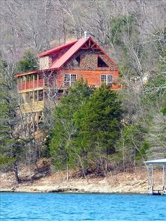 Eureka Springs Vacation Rental - VRBO 116221 - 3 BR Beaver Lake Cabin in AR, Best Lakefront Lodge on Beaver Lake to Waters Edge Amazing . Need A Vacation, Vacation Places, Best Vacations, Vacation Trips, Vacation Spots, Places To Travel, Places To Go, Cabin Vacations, Places In Usa