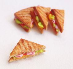 miniature GRILLED SANDWICH / toast BJD prop msd yosd by MuCrafts, $10.00
