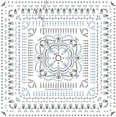 Aubrieta Bloom Afghan Square Crochet Pattern | www.petalstopicots.com