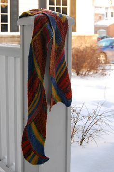 Ravelry: Tangogirl's Crazy color scarf - short rows and entrelac!