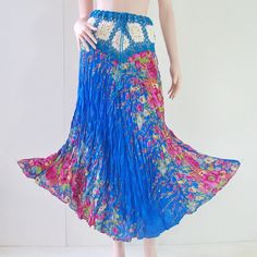 Peasant crochet maxi sundress blue casual boho gypsy hippie Flora dress skirt | Clothing, Shoes & Accessories, Women's Clothing, Skirts | eBay!
