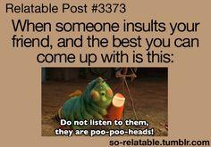 Poo-poo heads