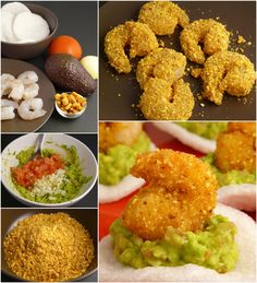 receta de gambas crujientes dos texturas con guacamole