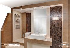 Projekt łazienki w wykonaniu biura projektowego Mera Design