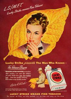 1948 Ad Lucky Strike Cigarettes Brice R. Leech Tobacco