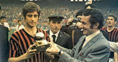 Gianni Rivera from Alessandria. first italian winner of the Golden Ball
