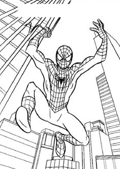 The Hellokids Members Who Have Chosen This Spidermans Big Jump Coloring Page Love Also SPIDER MAN Pages
