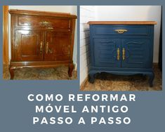 before and after furniture Buffet, Cabinet, Storage, Furniture, Home Decor, Ideas, Sanding Wood, Enamel Paint, Painted Furniture