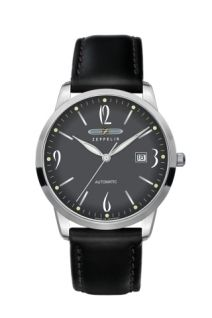 This elegant watch from Flatline series has been designed for an extra slim look and indeed the height is just A glass exhibition case back lets you view the Swiss Made ETA automatic movement with gold plated rotor. Zeppelin Watch, Falling Water Frank Lloyd Wright, Amazing Watches, Elegant Watches, Fine Watches, Patek Philippe, Automatic Watch, Vintage Watches, Sport Fashion