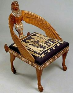 Egyptian Revival Cowans Auctions: The Midwests Most Trusted Auction House / Antiques / Fine Art Ancient Egypt Ancient Egypt furniture antiques art Auction Auctions Cowans EGYPTIAN fine House Midwests Revival Trusted Egyptian Furniture, Egyptian Home Decor, Ancient Egyptian Artifacts, Roman Artifacts, Ancient Aliens, Muebles Art Deco, Egypt Art, Antique Chairs, Antique Furniture
