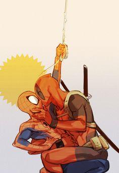「落書き詰め3」/「shishio*」の漫画 [pixiv] | Spideypool | Deadpool | Spiderman | Kiss