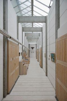 Bagsværd Church at Copenhagen. Architect : Jørn Utzon  wall, glass roof