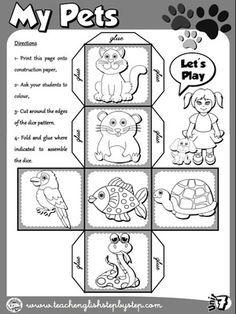 My Pets - Dice (B&W version)