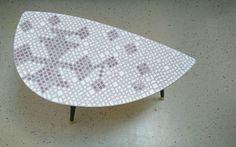 "Mosaic Coffee Table Tripod with Skandinavian pattern ""Anika"""
