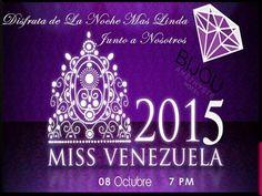 @bijouamethyste: Apoyaremos en esta noche tan linda como esta a @MissVVargas talento Paraguanero @missvenezuela a las 7pm  Te esperamos y siéntete Bijou y descubre la joya que llevas dentro de ti...