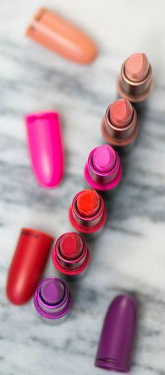 Kuvahaun tulos haulle MAC shadescents lipstick swatches