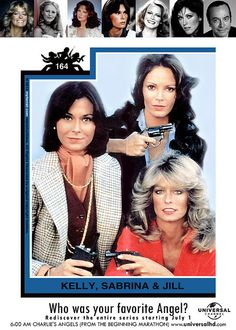 If you haven't set your DVR for all five season of the Charlie's Angels Marathon starting on July 1, 2013 on Universal HD get ready! All your Angels will be there from the beginning and in order of all five season. Farrah Fawcett, Kate Jackson, Jaclyn Smith, Cheryl Ladd, Shelly Hack and Tanya Roberts will all be out and about catching criminals and doing it in seventies style!