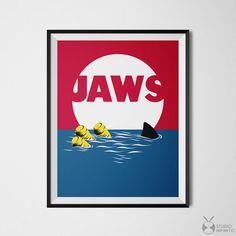 Jaws Poster, Jaws Print, 80s Movie Posters, Movie Printables, Jaws Movie Poster, Minimal Wall Art, Film Poster Art, Movie Art, Minimal decor