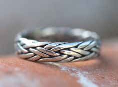Braided Sterling Silver Stacking Band Ring – Yourgreatfinds