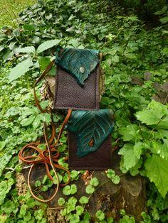 Small Chocolate Leaf Purse by TreadLightGear on Etsy, $40.00