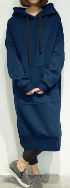 Hooded Sweatshirt Dress.