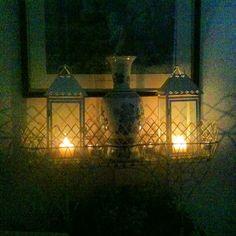 Candles glowing at nightfall...