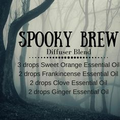 Spooky Brew Diffuser Blend Recipe #halloween #diffuser #essentialoils