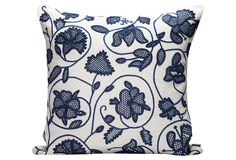 Chinoiserie 21x21 Pillow, Ivory