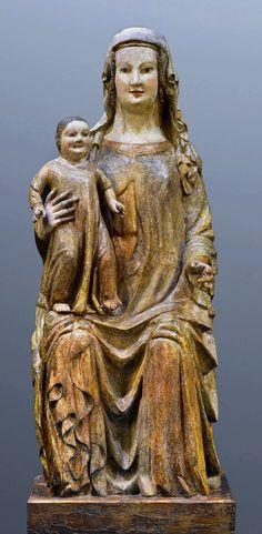 Throning Madonna and Child by Anonymous from Germany, ca. 1350, Muzeum Narodowe w Warszawie (MNW)