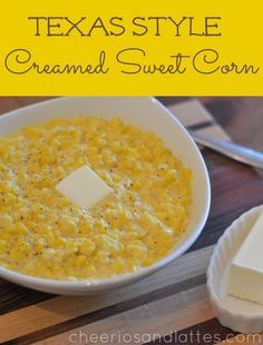 Texas Style Cream Corn; the perfect compliment to your Summer BBQ recipes, weeknight dinners, or a special holiday meal!